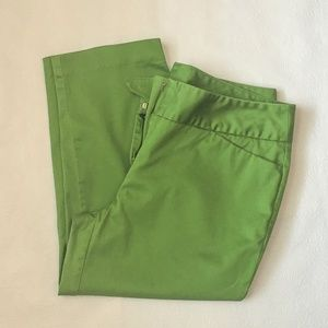 Worthington Womens Modern Fit Wide Leg Crop Green
